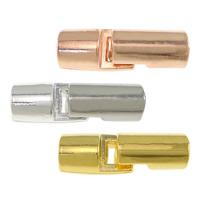 Zinklegierung Lederband Verschluss, plattiert, keine, 27x8.50mm, Bohrung:ca. 5.5mm, 300PCs/Menge, verkauft von Menge
