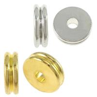 Messing Zwischenperlen, Kreisring, plattiert, verschiedene Größen vorhanden, keine, Bohrung:ca. 2mm, 2000PCs/Menge, verkauft von Menge