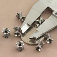 Bali Sterling Silber Perlenkappen, Thailand, doppelseitig, 7x8mm, Bohrung:ca. 1.5mm, 50PCs/Menge, verkauft von Menge