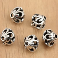 Bali Sterling Silber Perlen, Thailand, Doppelkegel, hohl, 7.70x8mm, Bohrung:ca. 1.7mm, 50PCs/Menge, verkauft von Menge