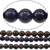 gefärbter Marmor Perle, rund, verschiedene Größen vorhanden, keine, Bohrung:ca. 1mm, Länge:ca. 16 ZollInch, verkauft von Menge