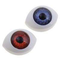 Evil Eye Cabochon, Harz, blöser Blick, flache Rückseite, keine, 14x10x6mm, 1000PCs/Tasche, verkauft von Tasche