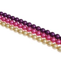 Perlmuttartige Glasperlen, rund, verschiedene Größen vorhanden, keine, Bohrung:ca. 1mm, Länge:ca. 32 ZollInch, verkauft von Tasche