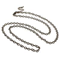 Eiserne Halskette Kette, Eisen, mit Verlängerungskettchen von 7cm, antike Bronzefarbe plattiert, Oval-Kette, frei von Nickel, Blei & Kadmium, 4.50x5x1mm, Länge:ca. 30 ZollInch, 10SträngeStrang/Tasche, verkauft von Tasche
