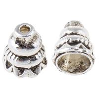 Zinklegierung Kegel Perlen, antik silberfarben plattiert, frei von Nickel, Blei & Kadmium, 7x8mm, Bohrung:ca. 1mm, 7mm, ca. 1310PCs/kg, verkauft von kg
