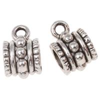 Zinklegierung Stiftöse Perlen, Rohr, antik silberfarben plattiert, frei von Nickel, Blei & Kadmium, 6.50x10x7mm, Bohrung:ca. 1mm, 4mm, ca. 1266PCs/kg, verkauft von kg