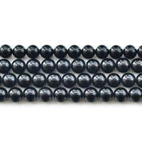 Turmalin Perle, rund, natürlich, Oktober Birthstone & verschiedene Größen vorhanden, schwarz, Grad AAA, verkauft per ca. 15 ZollInch Strang