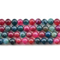 Natürliche Crackle Achat Perlen, Geknister Achat, rund, verschiedene Größen vorhanden, Länge:ca. 15 ZollInch, verkauft von Menge