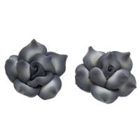 Polymer Ton Perlen , Blume, handgemacht, verschiedene Größen vorhanden, Bohrung:ca. 1mm, 100PCs/Tasche, verkauft von Tasche