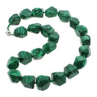 Malachit Halskette, Zinklegierung Karabinerverschluss, synthetisch, 11-22mm, verkauft per ca. 18 ZollInch Strang