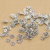 Bali Sterling Silber Perlenkappen, Thailand, Blume, verschiedene Größen vorhanden, Bohrung:ca. 1-2mm, verkauft von Menge