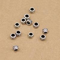Bali Sterling Silber Perlen, Thailand, 4.5mm, Bohrung:ca. 2.7mm, 60PCs/Menge, verkauft von Menge