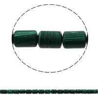Malachit Perle, Zylinder, synthetisch, 10x14mm, Bohrung:ca. 1mm, ca. 28PCs/Strang, verkauft per ca. 15.7 ZollInch Strang