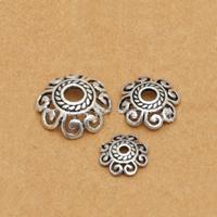 Bali Sterling Silber Perlenkappen, Thailand, Blume, verschiedene Größen vorhanden, verkauft von Menge