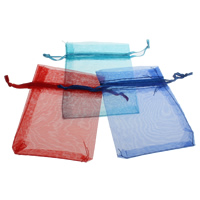 Schmuck Kordelzugbeutel, Organza, Rechteck, transparent, keine, 7x9cm, 500PCs/Tasche, verkauft von Tasche