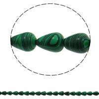 Malachit Perle, Tropfen, synthetisch, 10x14mm, Bohrung:ca. 1mm, 28PCs/Strang, verkauft per ca. 15.7 ZollInch Strang