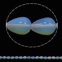 Opal Perlen, Tropfen, 10x14mm, Bohrung:ca. 1mm, 28PCs/Strang, verkauft per ca. 15.7 ZollInch Strang