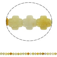 Natürliche gelbe Achat Perlen, Gelber Achat, Kreuz, 8x4mm, Bohrung:ca. 1mm, 50PCs/Strang, verkauft per ca. 16 ZollInch Strang