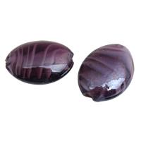 Innerer Twist Lampwork Perlen, flachoval, handgemacht, innen Twist, Henna Rot, 21x15x8mm, Bohrung:ca. 1.5mm, 50PCs/Tasche, verkauft von Tasche