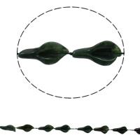 Unakit Perlen, Unakite, Blatt, natürlich, 16x28x8mm, Bohrung:ca. 1mm, ca. 12PCs/Strang, verkauft per ca. 16.5 ZollInch Strang