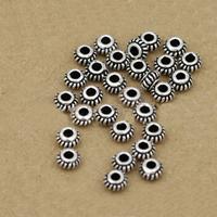Bali Sterling Silber Perlen, Thailand, Kreisring, 5mm, 100PCs/Menge, verkauft von Menge
