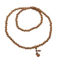 108 Mala Perlen, Blitz Jujube, mit elastische Nylonschnur, rund, buddhistischer Schmuck, Kaffeefarbe, 8mm, 11x14.5mm, 6x18mm, Länge:ca. 30 ZollInch, 5SträngeStrang/Tasche, 108PCs/Strang, verkauft von Tasche
