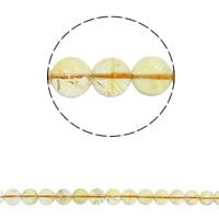 Natürlicher Citrin Perlen, Gelbquarz Perlen, rund, November Birthstone & verschiedene Größen vorhanden, Bohrung:ca. 1.5mm, verkauft per ca. 15.7 ZollInch Strang
