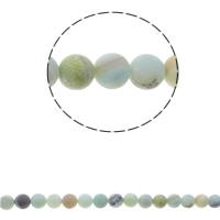 Amazonit Perlen, rund, natürlich, verschiedene Größen vorhanden & satiniert, Bohrung:ca. 1.5mm, verkauft per ca. 15.7 ZollInch Strang