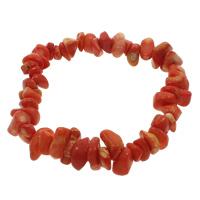 Korallen Armband, Natürliche Koralle, Klumpen, natürlich, rot, 5-9mm, verkauft per ca. 6.5 ZollInch Strang