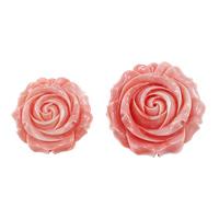 Riesenmuscheln Perlen, Riesenmuschel, Blume, geschnitzt, verschiedene Größen vorhanden, Rosa, 5PCs/Menge, verkauft von Menge