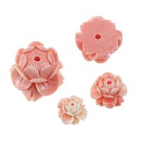 Riesenmuschel Perle, Lotos Seedpod, geschnitzt, verschiedene Größen vorhanden, Rosa, verkauft von Menge