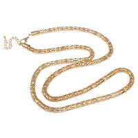 Eisen Halskette Gliederkette, mit Verlängerungskettchen von 6cm, KC goldfarben plattiert, Laterne Kette, frei von Nickel, Blei & Kadmium, 6mm, verkauft per ca. 29 ZollInch Strang