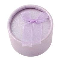 Karton Ringkasten, mit Baumwollsamt, flache Runde, violett, 53x36mm, 24PCs/Tasche, verkauft von Tasche