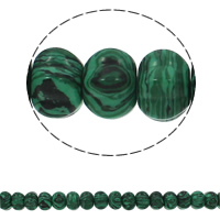 Malachit Perle, Rondell, synthetisch, 15x10mm, Bohrung:ca. 1.5mm, ca. 40PCs/Strang, verkauft per ca. 15.7 ZollInch Strang