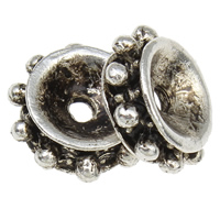 Zinklegierung Zwischenperlen, flache Runde, antik silberfarben plattiert, frei von Blei & Kadmium, 10x3.5mm, Bohrung:ca. 1mm, 550PCs/Tasche, verkauft von Tasche