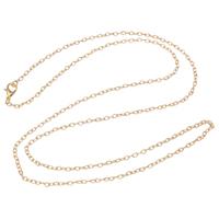 Eiserne Halskette Kette, Eisen, plattiert, Oval-Kette, keine, frei von Nickel, Blei & Kadmium, 2x3x0.60mm, verkauft per ca. 28 ZollInch Strang