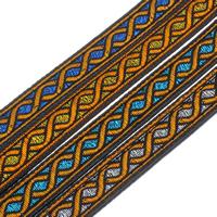 Ethnische Baumwollschnur, PU Leder, mit Polyester, keine, 11x2mm, 50m/Tasche, verkauft von Tasche
