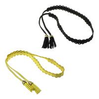 Mode Samtschnur Armbänder, Wollschnur, mit Kunststoff, goldfarben plattiert, keine, 13x1.50mm, Länge:ca. 14 ZollInch, 20SträngeStrang/Menge, verkauft von Menge