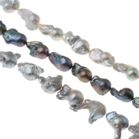 Kultivierte kernhaltige Süßwasserperlen, kultivierte Süßwasser kernhaltige Perlen, Keishi, keine, 18-20mm, Bohrung:ca. 0.8mm, verkauft per ca. 15.3 ZollInch Strang