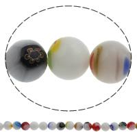 Millefiori Glasperlen, Glas Millefiori, rund, handgemacht, verschiedene Größen vorhanden, Bohrung:ca. 1mm, Länge:ca. 14.5 ZollInch, verkauft von Tasche