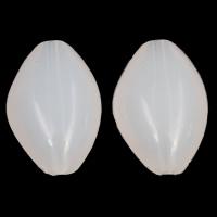 Gelee-Stil-Acryl-Perlen, Acryl, oval, Gellee Stil, weiß, 22x33x12mm, Bohrung:ca. 3mm, 2Taschen/Menge, ca. 105PCs/Tasche, verkauft von Menge