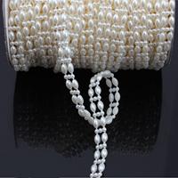 Garland-Strang Perlen, ABS-Kunststoff-Perlen, mit Kunststoffspule & Karton, flachoval, 9x14mm, 4PCs/Menge, 25m/PC, verkauft von Menge