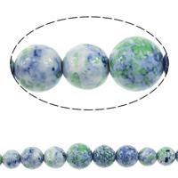 Regen Blumen Stein Perlen, rund, synthetisch, 6-14mm, Bohrung:ca. 1mm, Länge:18 ZollInch, 5SträngeStrang/Menge, verkauft von Menge