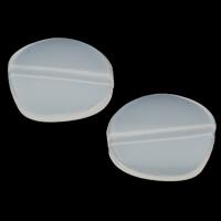 Gelee-Stil-Acryl-Perlen, Acryl, Klumpen, Gellee Stil, weiß, 18x16x4mm, Bohrung:ca. 1mm, 2Taschen/Menge, ca. 625PCs/Tasche, verkauft von Menge