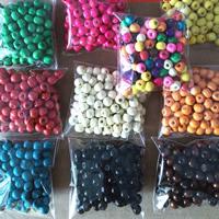 Holzperlen, Holz, Trommel, keine, 7x8mm, Bohrung:ca. 2-4mm, 50Taschen/Menge, 100PCs/Tasche, verkauft von Menge