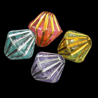 Gemischte Acrylperlen, Acryl, transparent, 6x6mm, Bohrung:ca. 1mm, ca. 5800PCs/Tasche, verkauft von Tasche