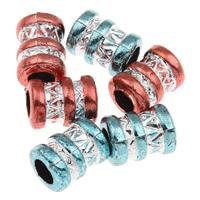 Silberdruck Acrylperlen, Acryl, Rohr, keine, 9x12mm, Bohrung:ca. 5mm, ca. 1100PCs/Tasche, verkauft von Tasche