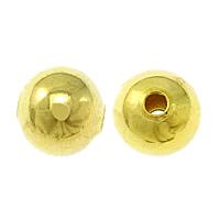 Messing Schmuckperlen, rund, goldfarben plattiert, frei von Nickel, Blei & Kadmium, 5mm, Bohrung:ca. 1mm, 100PCs/Tasche, verkauft von Tasche