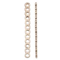 Zinklegierung Zwischenstege, vergoldet, 12 -Strang- & hochwertige Beschichtung und nie verblassen, frei von Blei & Kadmium, 5x50x1.50mm, Bohrung:ca. 2mm, 50PCs/Tasche, verkauft von Tasche