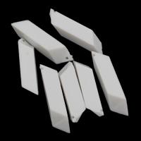Acryl Anhänger, Volltonfarbe, weiß, 9x46mm, Bohrung:ca. 1mm, 2Taschen/Menge, ca. 150PCs/Tasche, verkauft von Menge